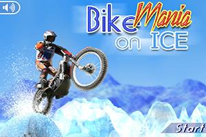 هوس الدراجة على لعبة الجليد