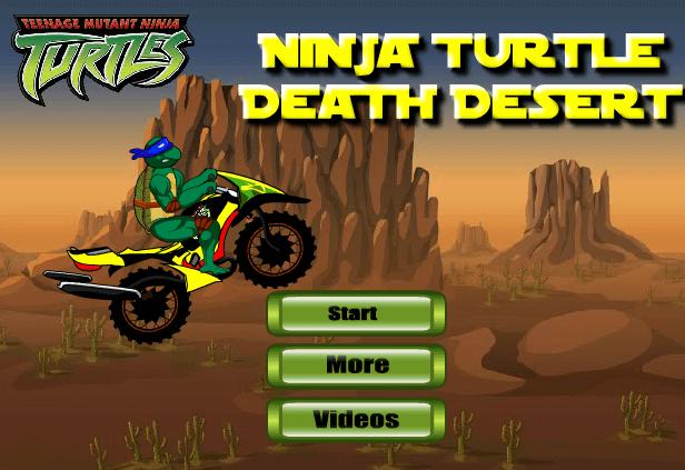 لعبة سلاحف النينجا لقيادة الدراجة النارية في الصحراء